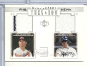 2001 Pros & Prospects Then & Now Game Jersey #TNPN Phil Nevin