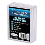 2-Piece 25 Count Clear Card Storage Box-Used
